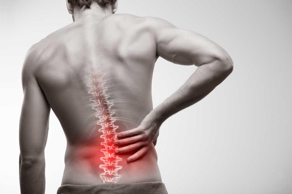 Douleur visible au dos